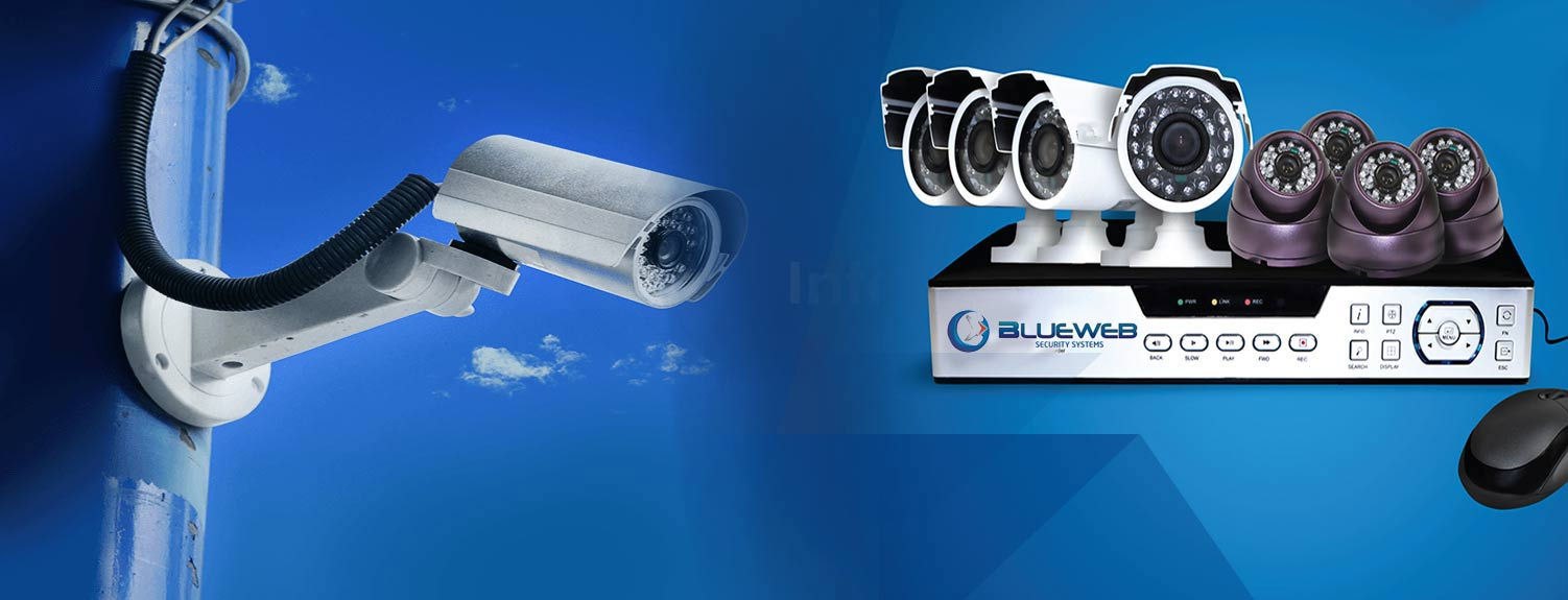 Blue web security system for Look security systems